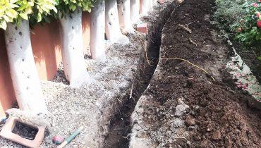 Root, barrier installation